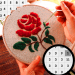 Cross Stitch Flowers Coloring By Number-P ixel Art 2.0