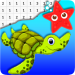Sea Animals Coloring By Number – Pixel 4.0