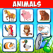 Animal sounds. Learn animals names for kids 6.6