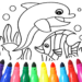 Dolphin and fish coloring book 15.9.6
