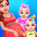 Pregnant Mommy And Twin Baby Care 0.8