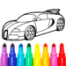 Learn Coloring & Drawing Car Games for Kids 9.0